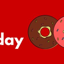 Eat a doughnut to be in luck